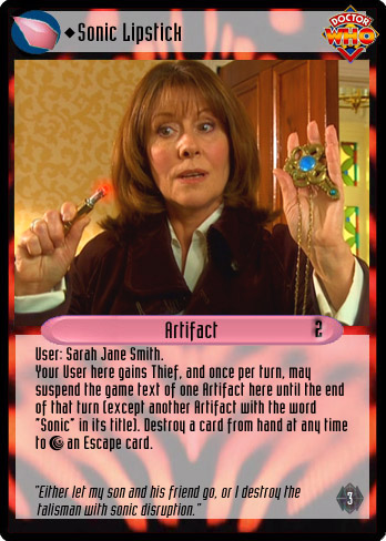 Unauthorized Dr. Who CCG - Artifact: Sonic Lipstick
