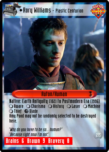 unauthorized dr who ccg rory williams plastic centurion